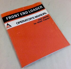 Allis Chalmers 430 Front End Loader 5020 Tractor Operators Manual Assembly