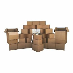3 Room Wardrobe Kit 33 Moving Boxes Bubble Roll Moving Supplies
