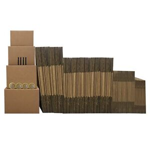 10 Room Economy Kit 124 Moving Boxes Supplies Tape And Markers