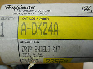 Hoffman A dk24a Drip Shield Kit For 24 Enclosure New Condition In Box