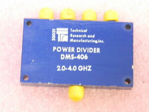 Trm Dms406 4 way Wilkinson Octive Power Divider 2 To 4 Ghz Sma f