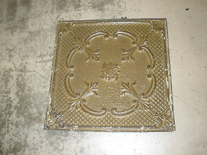Antique Ceiling Tin Tile Vintage Primitive Late 1800 S 2x2 Ft Old Architectural