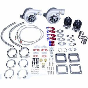 Camaro Corette Trans Am Ls1 Ls2 Ls6 T4 Twin Turbo Charger Set Up Kit