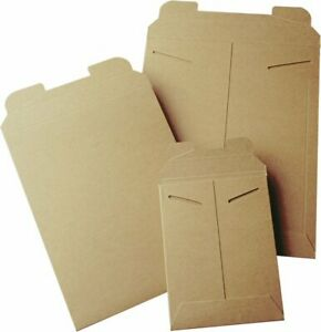 50 9 X 11 5 Kraft No Bend Tab Lock Mailers Rigid Flat Photo Document Paperboard
