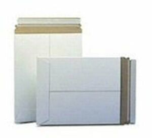 50 6 X 8 No Bend Mailers White Self Seal Photo Document Flat Rigid Envelope