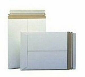 25 13 X 18 No Bend Mailers White Self Seal Photo Document Flat Rigid Envelope