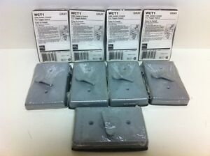 Lot 9 New Egs One Gang Wall Covers For Toggle Switch Wct1