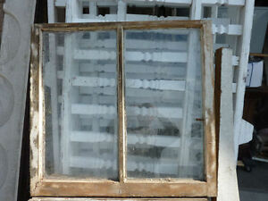C1870 Victorian Double Pane Window Frame Sash Old Paint 32 5 X 31 X 1 3 8