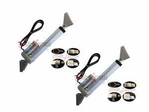 2 Heavy Duty 8 Linear Actuator W tilt Mounting Brackets 12v 225lbs Max Pair