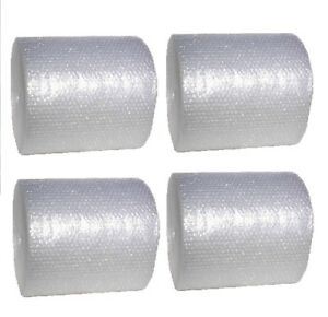4 Rolls Of 12 Inch Wide Bubble Cushioning Wrap 3 16 Small Bubbles 300 Ft