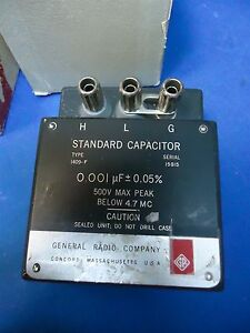 General Radio Genrad 1409 f Standard Capacitor W original Box