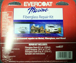 Evercoat Marine Boat Ect Polyester Fiberglass Repair Kit 100637