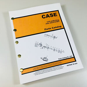 Ji Case 1370 Agri King Tractor Parts Manual Catalog 1253 S n After 8727601 New