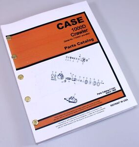 Case 1000d Industrial Crawler Tractor Sn 7103001 Up Parts Catalog Manual C1043