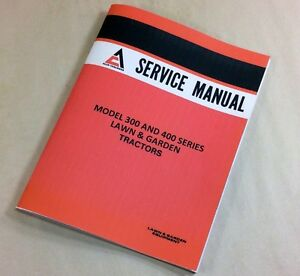 Allis Chalmers 400 Series 410 3sp 410s 414s 416s H Garden Tractor Service Manual