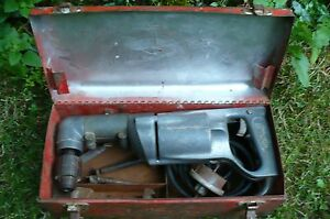 Milwaukee Heavy Duty 1 2 Inch S 412 Right Angle Drill W Bits And Case Vintage