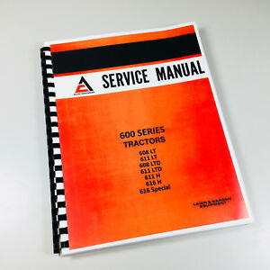 Allis Chalmers 600 Series Tractor Lawn Mower Garden Service Repair Manual