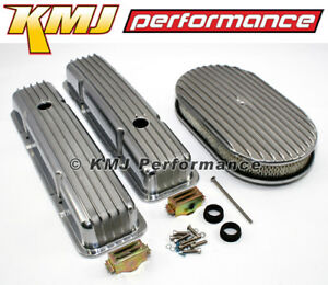 58 86 Sbc Chevy 350 Finned Retro Aluminum Valve Covers Air Cleaner Dress Up Kit