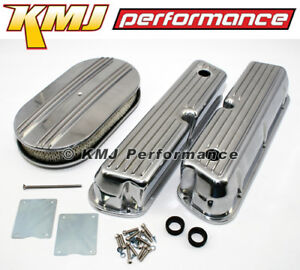 Ford 289 302 351w Finned Retro Aluminum Valve Covers Air Cleaner Dress Up Kit