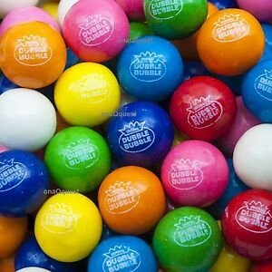 850 1 Double Bubble Gumballs Candy Gum Vending Assorted 8flavr Dubble 24mm Bulk