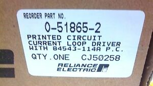 Reliance Electric Current Loop Driver 0 51865 2 New 0518652
