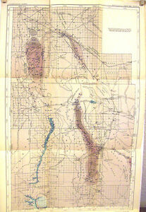 Geological Survey Water Supply Paper Map Ii Grant County New Mexico 1918