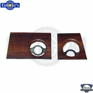 69 Camaro Dash Dashboard Panel Radio Rosewood Woodgrain Plate Insert Pair