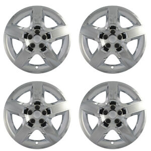 4 Pc Hubcaps Fits Pontiac G6 17 Chrome Abs Snap On Replacement Wheel Rim Cover