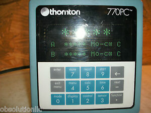 Thornton 770pc 772 201 25 Amp 90 130 Vac No Analog Output Conductivity Meter