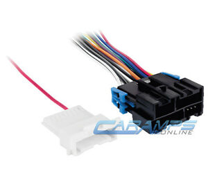 Car Truck Stereo Cd Player Radio Wiring Harness Adapter W Factory Amp Wire Plug