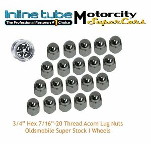 Oldsmobile 442 Cutlass Ssi Wheel Lug Nuts Nosr 3 4 Acorn Factory Correct Nosr