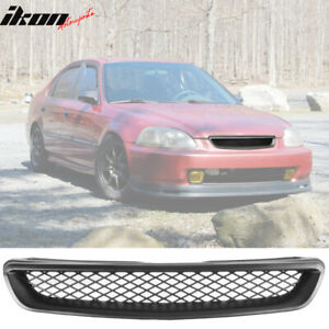 Fits 96 98 Honda Civic T R Unpainted Mesh Abs Front Hood Grille Grill