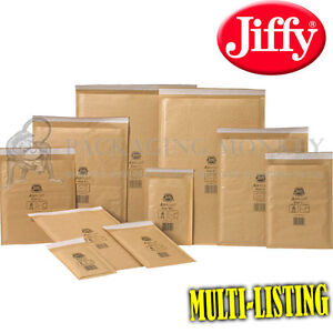 Genuine Gold Jiffy Padded Envelopes Bags all Sizes