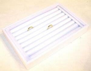 Light Grey Color Small Ring Tray Display Box Counter Store Boxes Rings Displays
