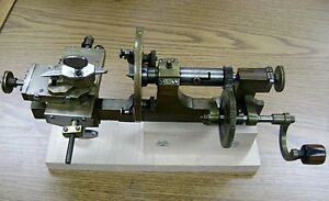 Antique Bench Model Watchmaker s Jeweler s Lathe Hand Operated