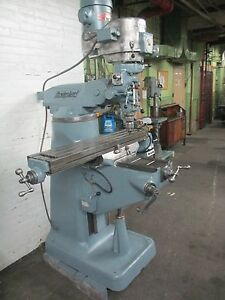 1 1 2 Hp Bridgeport Vertical Ram Type Milling Machine 9 X 42 Table
