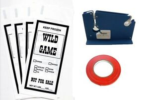 Wild Game Ground Meat Packing Kit Tape Machine Tape 200 1lb Bags Sib Supply