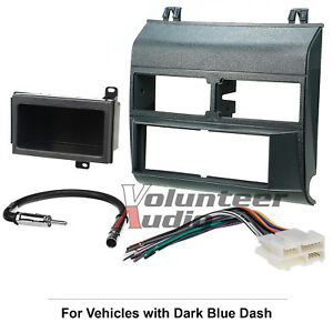Gm Truck Complete Car Stereo Radio Dash Install Mount Trim Panel Bezel Kit Blue