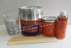 Battleship Gray Acrylic Enamel Single Stage Restoration Auto Body Shop Paint Kit