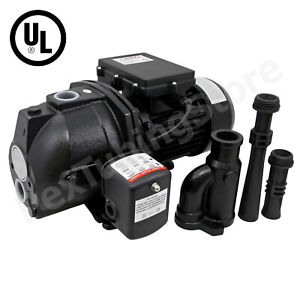 3 4 Hp Convertible Shallow Or Deep Well Jet Pump W Pressure Switch 115 230v Ul