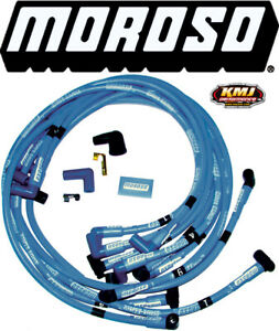 Moroso 72407 Blue Max Spark Plug Wires Small Block Chevy Hei Under Header 90 Sbc