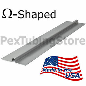 100 2ft Aluminum Radiant Heat Transfer Plates For 1 2 Pex Tubing Omega shaped