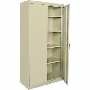 Sandusky Lee All Welded Steel Cabinet 36 X 24ind X 78 Putty ca41362478 07