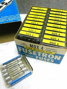 Box Of 100 Cooper Bussmann Buss Fusetron Fuses Mdx 4 New Mdx4