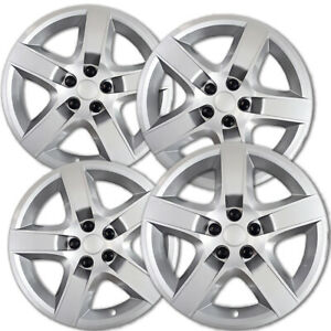 4 Pc Hubcaps Fits Chevy Malibu 17 Chrome Abs Snap On Replacement Wheel Rim