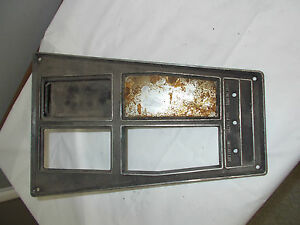 1969 Corvette 4 Speed Console Plate Gm 3956071 3954530 3915674