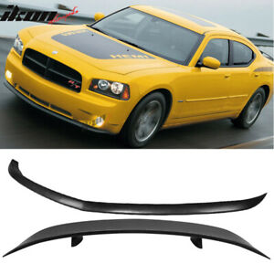 Fits 06 10 Dodge Charger Urethane Front Bumper Lip Rear Auto Spoiler Wing Pu