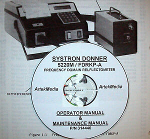 Systron Donner Frequency Domain Reflectometer 5220m User And Service Manuals 2