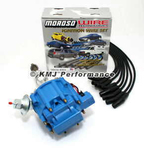 Sbf Ford 289 302 Hei Ignition Blue Cap Distributor Moroso Race Wires 135