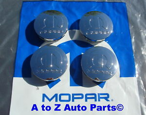 New Dodge Challenger Charger Chrysler 300 Mopar Logo Wheel Center Caps Set 4